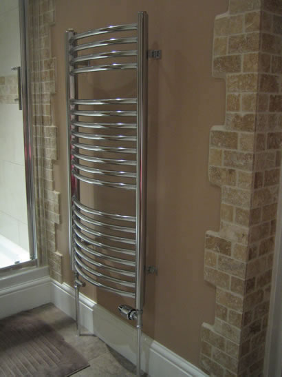 Towel heater rail
