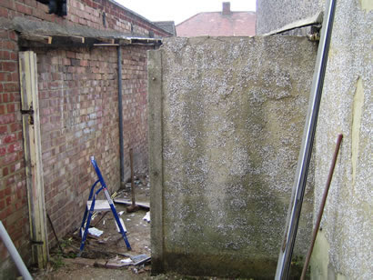 Removal of outbuildings/garage - Before